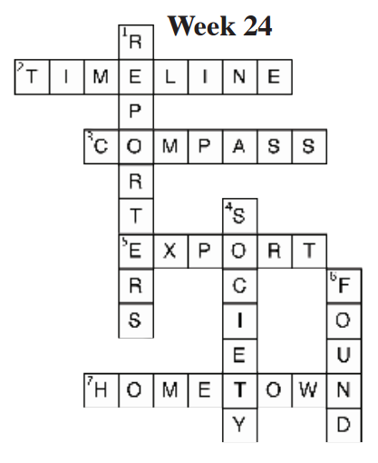 5th Grade Social Studies Weekly Week 13 Crossword Answers ...